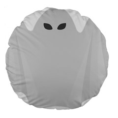 Ghost Halloween Spooky Horror Fear Large 18  Premium Flano Round Cushions