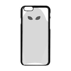 Ghost Halloween Spooky Horror Fear Apple Iphone 6/6s Black Enamel Case