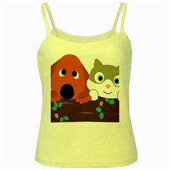 Baby Decoration Cat Dog Stuff Yellow Spaghetti Tank