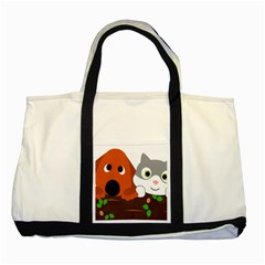 Baby Decoration Cat Dog Stuff Two Tone Tote Bag