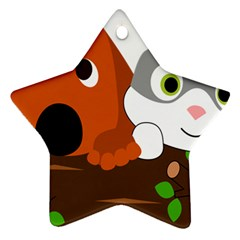 Baby Decoration Cat Dog Stuff Star Ornament (two Sides)