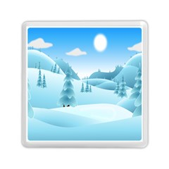 Landscape Winter Ice Cold Xmas Memory Card Reader (square)