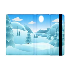 Landscape Winter Ice Cold Xmas Apple Ipad Mini Flip Case