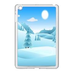 Landscape Winter Ice Cold Xmas Apple Ipad Mini Case (white)