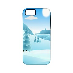 Landscape Winter Ice Cold Xmas Apple Iphone 5 Classic Hardshell Case (pc+silicone)
