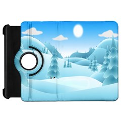 Landscape Winter Ice Cold Xmas Kindle Fire Hd 7
