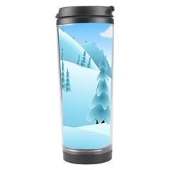 Landscape Winter Ice Cold Xmas Travel Tumbler