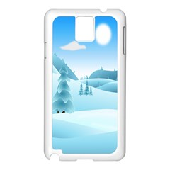 Landscape Winter Ice Cold Xmas Samsung Galaxy Note 3 N9005 Case (white)