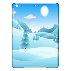 Landscape Winter Ice Cold Xmas Ipad Air Hardshell Cases