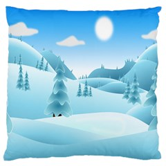 Landscape Winter Ice Cold Xmas Standard Flano Cushion Case (one Side)