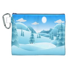 Landscape Winter Ice Cold Xmas Canvas Cosmetic Bag (xxl)