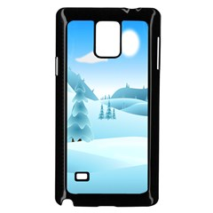 Landscape Winter Ice Cold Xmas Samsung Galaxy Note 4 Case (black)