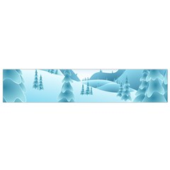 Landscape Winter Ice Cold Xmas Small Flano Scarf