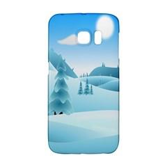 Landscape Winter Ice Cold Xmas Galaxy S6 Edge