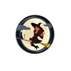 Witch Witchcraft Broomstick Broom Hat Clip Ball Marker (10 Pack)