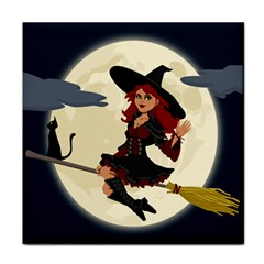 Witch Witchcraft Broomstick Broom Face Towel