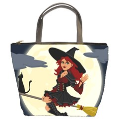 Witch Witchcraft Broomstick Broom Bucket Bags