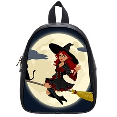 Witch Witchcraft Broomstick Broom School Bag (small)