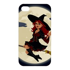 Witch Witchcraft Broomstick Broom Apple Iphone 4/4s Premium Hardshell Case