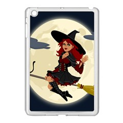 Witch Witchcraft Broomstick Broom Apple Ipad Mini Case (white)