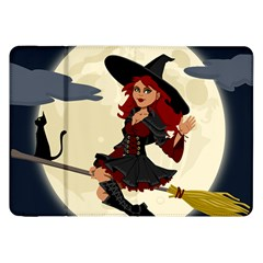 Witch Witchcraft Broomstick Broom Samsung Galaxy Tab 8 9  P7300 Flip Case