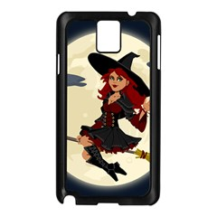 Witch Witchcraft Broomstick Broom Samsung Galaxy Note 3 N9005 Case (black)