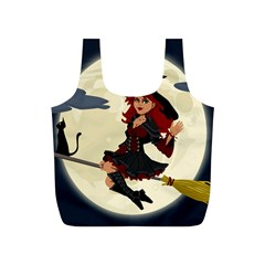 Witch Witchcraft Broomstick Broom Full Print Recycle Bags (s)