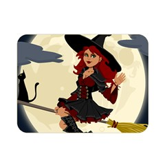 Witch Witchcraft Broomstick Broom Double Sided Flano Blanket (mini)