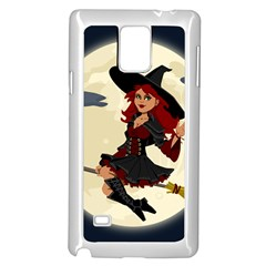 Witch Witchcraft Broomstick Broom Samsung Galaxy Note 4 Case (white)