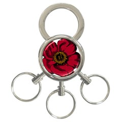 Floral Flower Petal Plant 3 Ring Key Chains