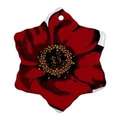 Floral Flower Petal Plant Ornament (snowflake)