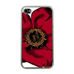 Floral Flower Petal Plant Apple Iphone 4 Case (clear)