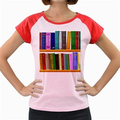 Shelf Books Library Reading Women s Cap Sleeve T Shirt