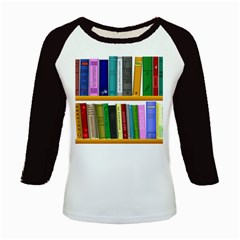 Shelf Books Library Reading Kids Baseball Jerseys