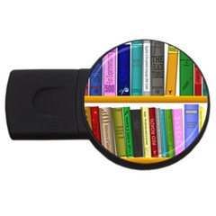 Shelf Books Library Reading Usb Flash Drive Round (4 Gb)