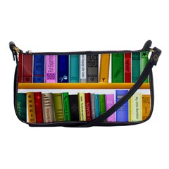 Shelf Books Library Reading Shoulder Clutch Bags