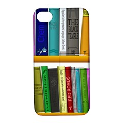 Shelf Books Library Reading Apple Iphone 4/4s Hardshell Case With Stand