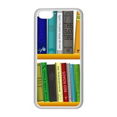 Shelf Books Library Reading Apple Iphone 5c Seamless Case (white)