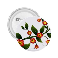 Flower Branch Nature Leaves Plant 2 25  Buttons