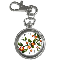Flower Branch Nature Leaves Plant Key Chain Watches