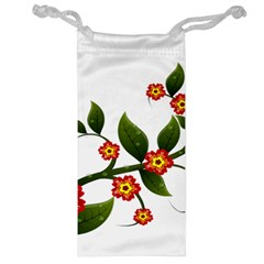 Flower Branch Nature Leaves Plant Jewelry Bag
