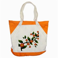 Flower Branch Nature Leaves Plant Accent Tote Bag