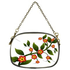 Flower Branch Nature Leaves Plant Chain Purses (one Side)