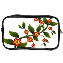 Flower Branch Nature Leaves Plant Toiletries Bags 2 Side