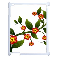 Flower Branch Nature Leaves Plant Apple Ipad 2 Case (white)