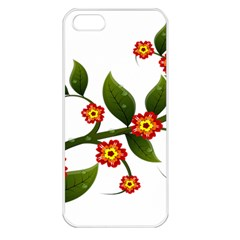 Flower Branch Nature Leaves Plant Apple Iphone 5 Seamless Case (white)