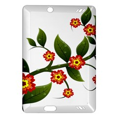Flower Branch Nature Leaves Plant Amazon Kindle Fire Hd (2013) Hardshell Case