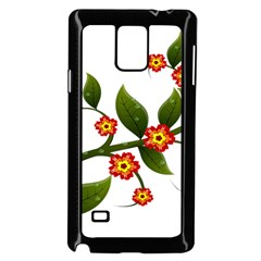 Flower Branch Nature Leaves Plant Samsung Galaxy Note 4 Case (black)