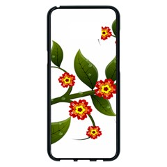 Flower Branch Nature Leaves Plant Samsung Galaxy S8 Plus Black Seamless Case