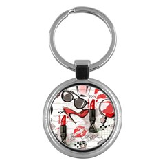 Cosmetic Pattern Key Chains (round)